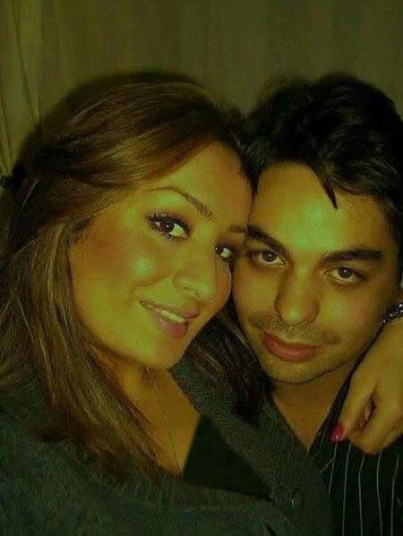 بابک سعیدی و همسرش