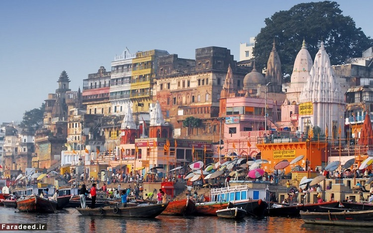 بِنارس یا واراناسی، هند – قدمت آن به حدود 1000 سال پیش از میلاد بازمیگردد