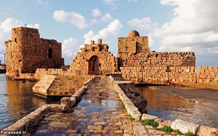 صیدا یا صیدون، لبنان – قدمت آن به حدود 4000 سال پیش از میلاد بازمیگردد