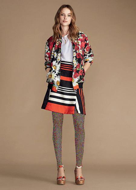 کت طرح دار دولچه اند گابانا Dolce & Gabbana برای بهار 2016