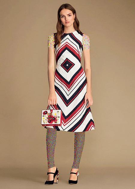 پیراهن طرح دار دولچه اند گابانا Dolce & Gabbana برای بهار 2016