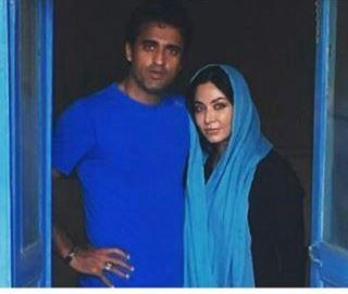 عکس عاشقانه بازیگر زن ایرانی و همسرش