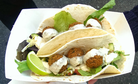 Prepare delicious falafel fast food for days housecleaning
