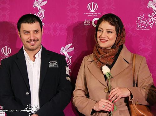 شبنم مقدمی و جواد عزتی در افتتاحیه جشنواره 34 فیلم فجر
