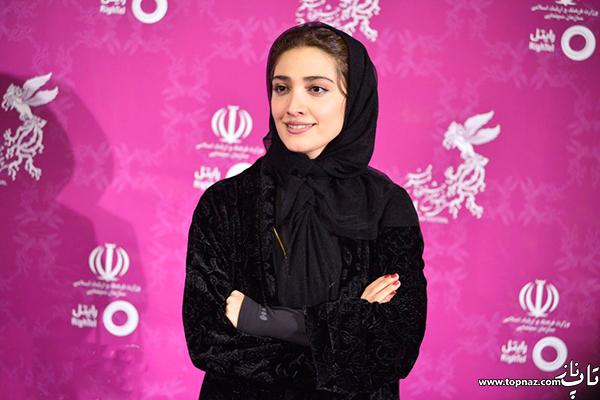 مینا ساداتی روی فرش قرمز جشنواره 34 فیلم فجر