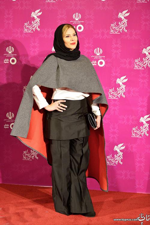 سحر دولتشاهی روی فرش قرمز جشنواره 34 فیلم فجر