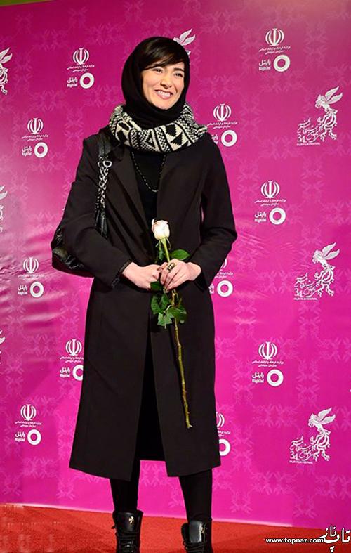 مینا وحید روی فرش قرمز جشنواره 34 فیلم فجر
