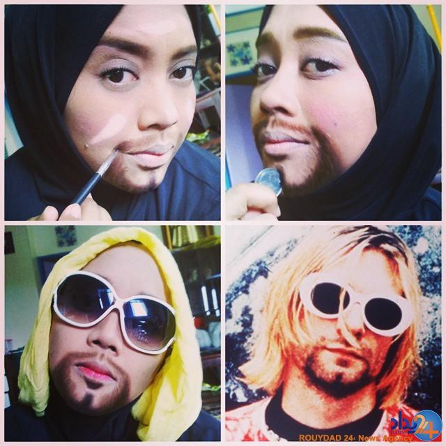 عکس چهره زیبا با حجاب