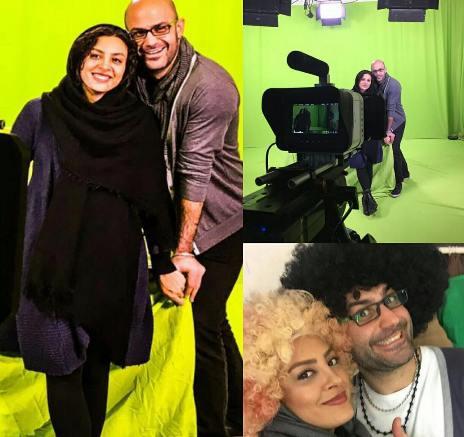 عکس های عاشقانه حدیثه تهرانی و همسرش در روز عشق