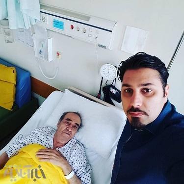 ایرج در بیمارستان بستری شد | عکس احسان خواجه امیری امیر بر بالین استاد