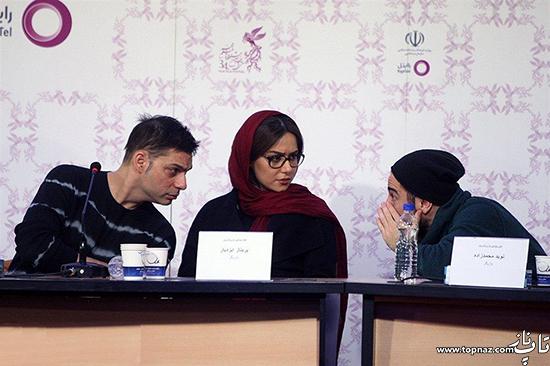 جدیدترین عکس های پریناز ایزدیار را در نشست خبری فیلم ابد و یک روز