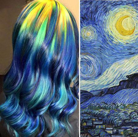 رنگ موهای بسیار جذاب این زن سوژه جهانی شد +تصاویر