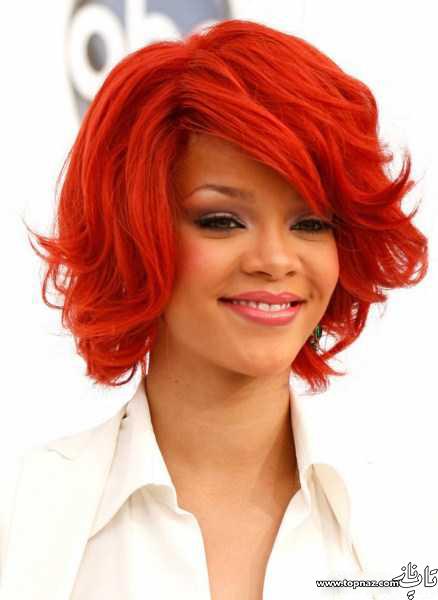 مدل رنگ مو و هایلایت های ریحانا