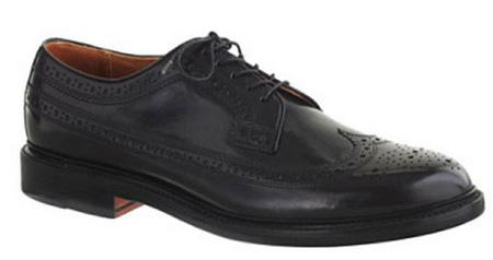 مدل کفش مجلسی برند Classic Black Italian Leather Wing Tips برای آقایان