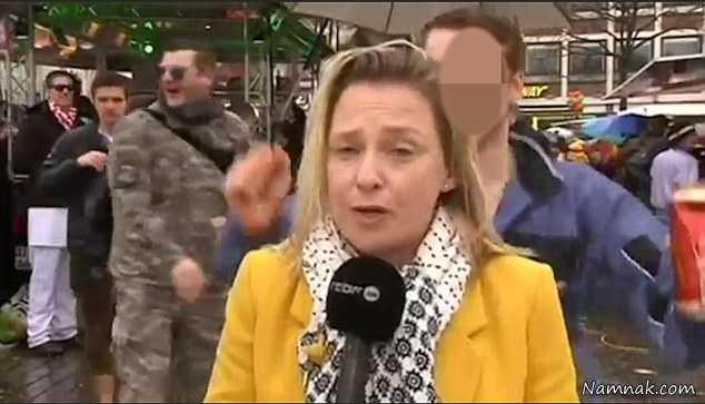 تجاوز به خبرنگار زن در برنامه زنده جلوی دوربین! +عکس
