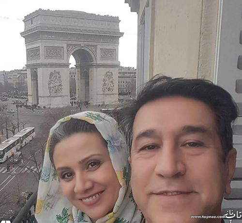 عکس فلورا سام و همسرش و مجید اوجی
