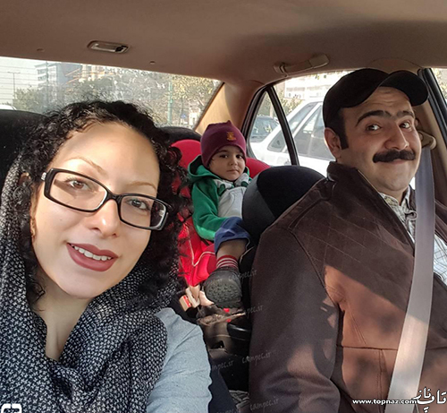 بهادر ملکی و همسر و پسرش(صدا پیشه فامیل دور)