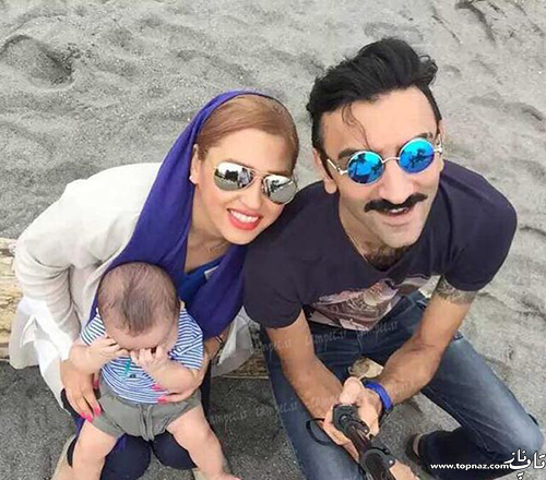 عکس وحید میهن دوست و همسرش و پسرش