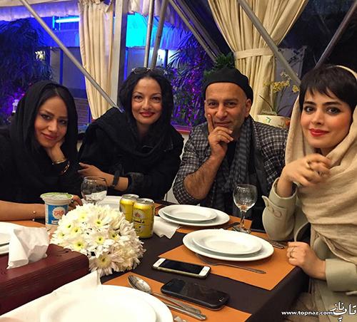 عکس حمید رضا آذرنگ و همسرش ساناز بایان