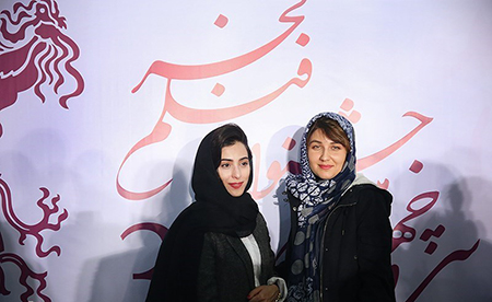 عکس از گلوریا هاردی با تیپ و لباس متفاوت در جشنواره فیلم فجر
