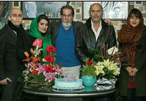 عکس گلوریا هاردی در جشن تولد پدر شوهر ایرانی اش