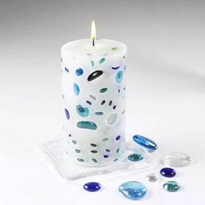 اموزش شمع ژله ای,نحوه تزیین شمع