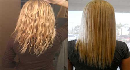یک روش طبیعی عالی برای صاف کردن موهای فر