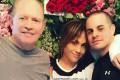 عکس جنیفر لوپز و نامزدش و پدرش در روز عشق