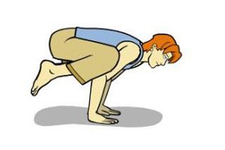 آموزش حرکت کلاغ یوگا ( باکاسانا )