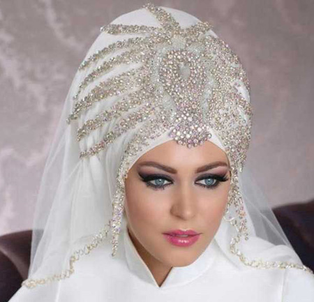 Crown and Tour models 1 مدل تور و همچنین مدل تاج عروس جهت عروس های محجبه