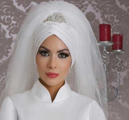 Crown and Tour models 11 مدل تور و همچنین مدل تاج عروس جهت عروس های محجبه