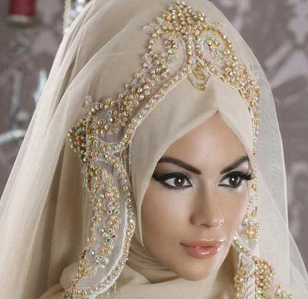 Crown and Tour models 4 مدل تور و همچنین مدل تاج عروس جهت عروس های محجبه
