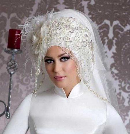 Crown and Tour models 7 مدل تور و همچنین مدل تاج عروس جهت عروس های محجبه
