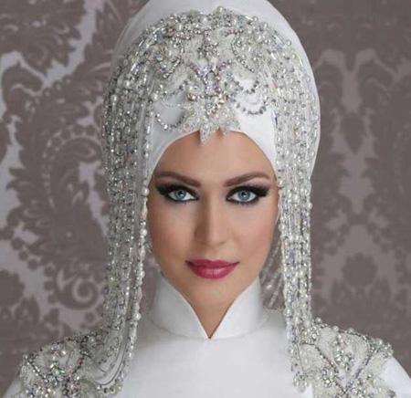 Crown and Tour models 8 مدل تور و همچنین مدل تاج عروس جهت عروس های محجبه