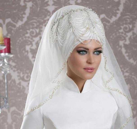 Crown and Tour models 9 مدل تور و همچنین مدل تاج عروس جهت عروس های محجبه