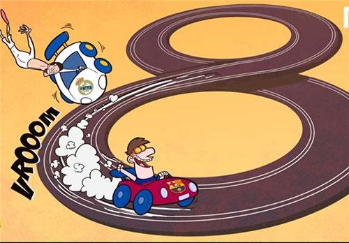 کاریکاتور لیونل مسی در برابر کریس رونالدو