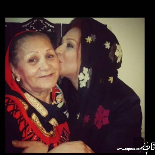 عکس جدید نسرین مقانلو و مادرش در اینستاگرامش