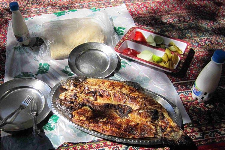 ماهی کبابی زریوار