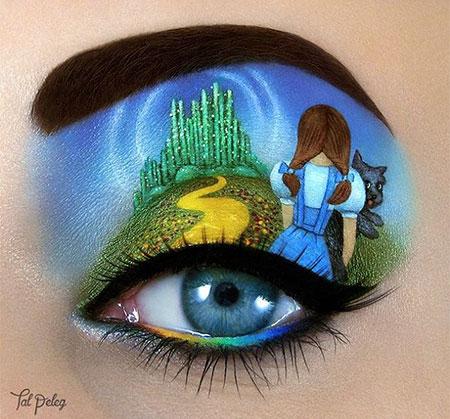 نقاشی های جالب روی پلک چشم شبیه به سایه چشم