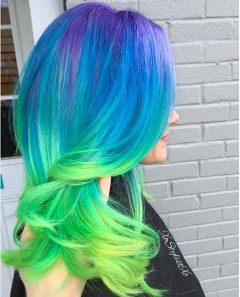 موی رنگینکمانی