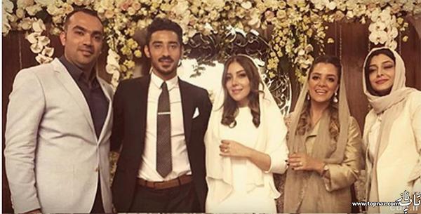 عکس رضا قوچان نژاد و همسرش (خواهر ساره بیات)