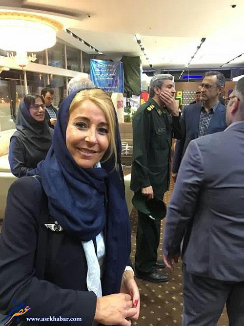 عکس از حجاب زن خدمه ایرفرانس در تهران