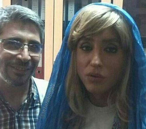 عکس بسیار جالب از گریم زنانه امیر حسین رستمی