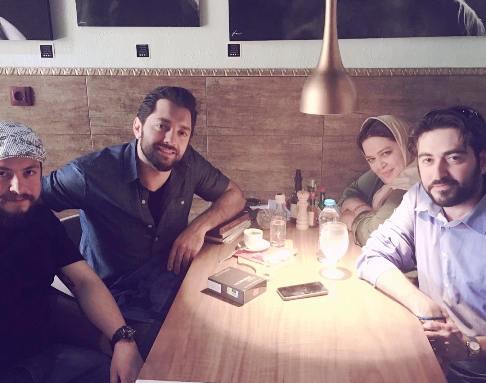 عکس بهرام رادان و بهاره افشار در رستوران بهاره افشاری!