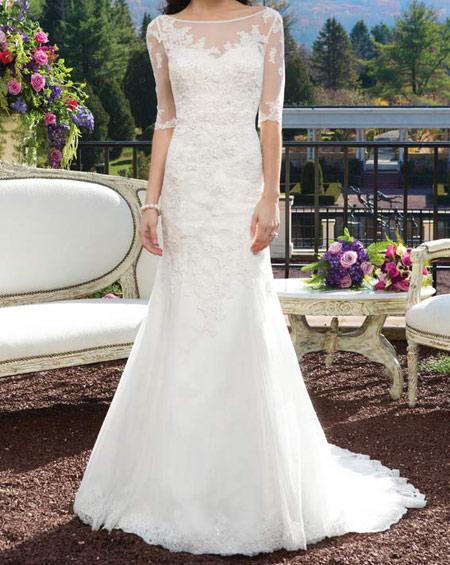 مدل لباس عروس آستین دار سال 2016