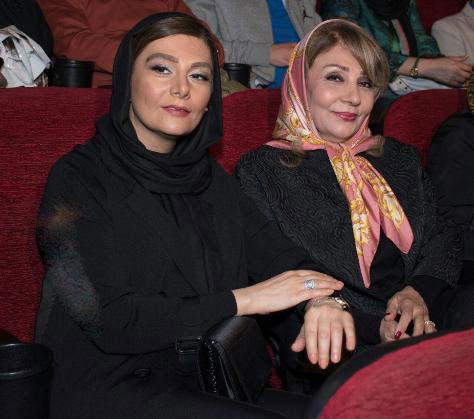 هنگامه قاضیانی و مادرش