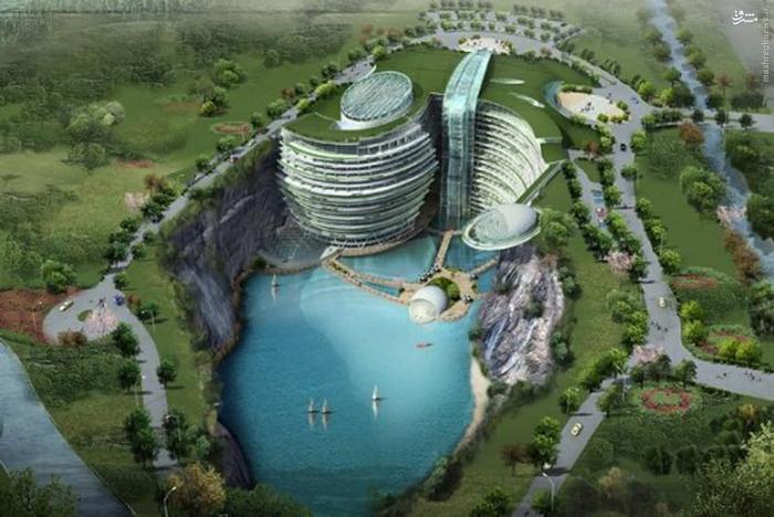 عکس معدن روباز که هتلی زیبا شد