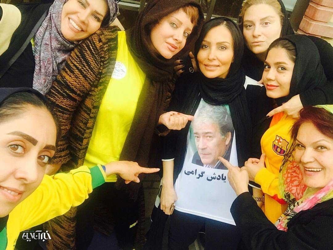 عکس ورزشکار معروف روی تی شرت پرستو صالحی