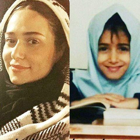 عکس دیدنی از چهره پریناز ایزدیار در دوران دبستان