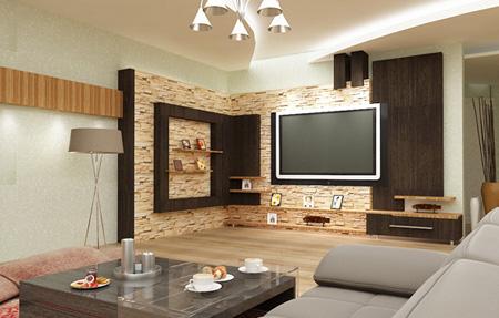 مدل دکوراسیون دیوار پشت تلوزیون شیک و زیبا